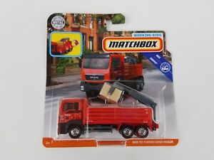 Matchbox-Working-Rigs-MAN-TGS-FLATBED-CARGO-HAULER-Stake-Service-Truck-MBX