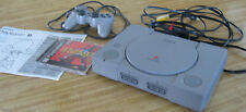 SONY PLAYSTATION 1-CONSOLE + DUAL SHOCK 1 CONTROLLER + ALL WIRES + GAME + MANUAL