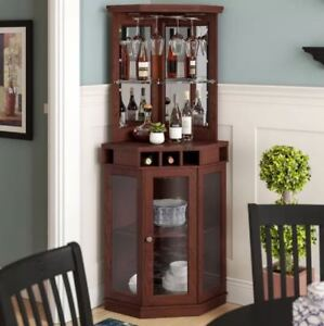 Bar And Wine Cabinet With Storage For Dining Room Corner