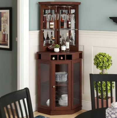 Bar And Wine Cabinet With Storage For, Corner Cabinet Dining Room