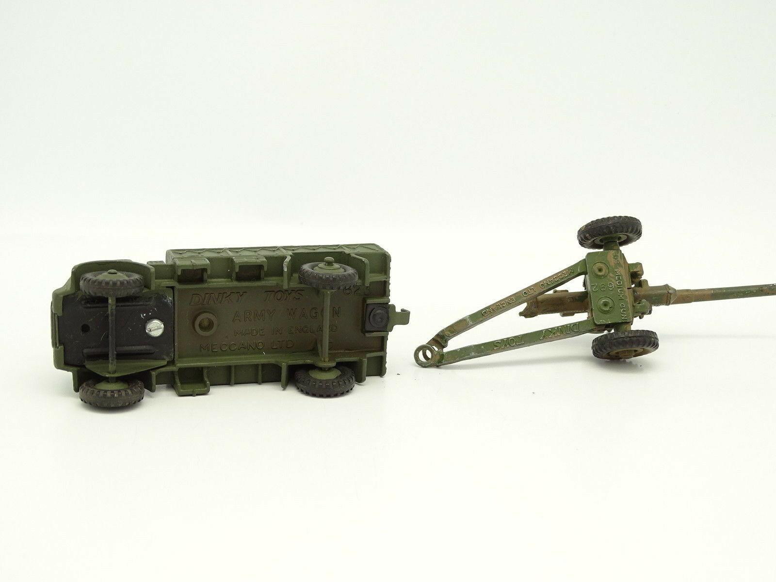 Dinky Toys GB Militaire Militaire Militaire SB 1 43 - Army Wagon with Trailer Medium Gun 692 12654f