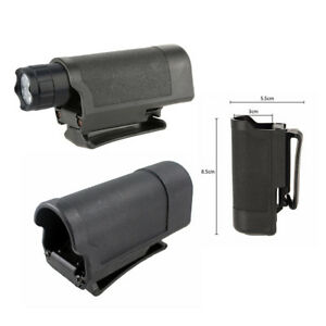 Tactical Flashlight Pouch Case Bag Holster For LED Flashlight Torch Black US