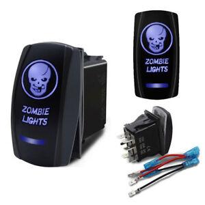 Skull Zombie Lights On Off Laser Etched Car Rocker Switch