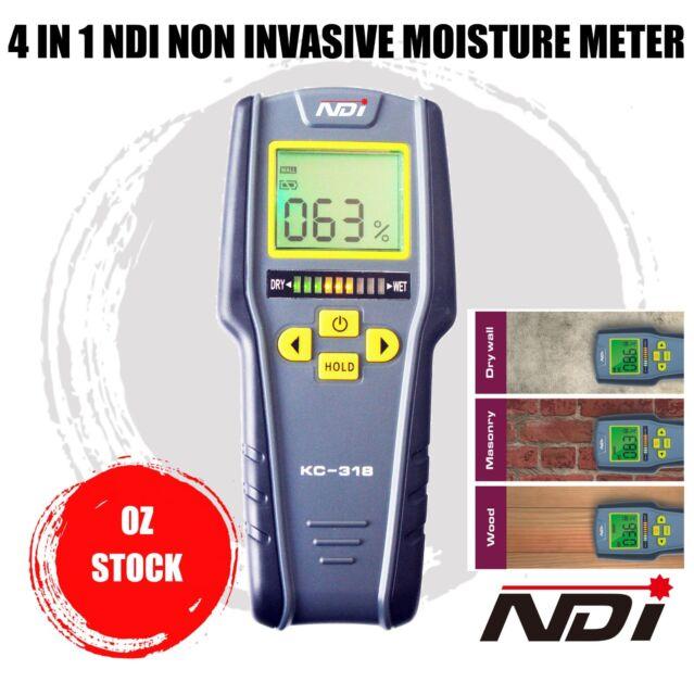 4 IN1 Moisture Meter Humidity LCD Tester Non-Intrusive Moisture Meter Hygrometer