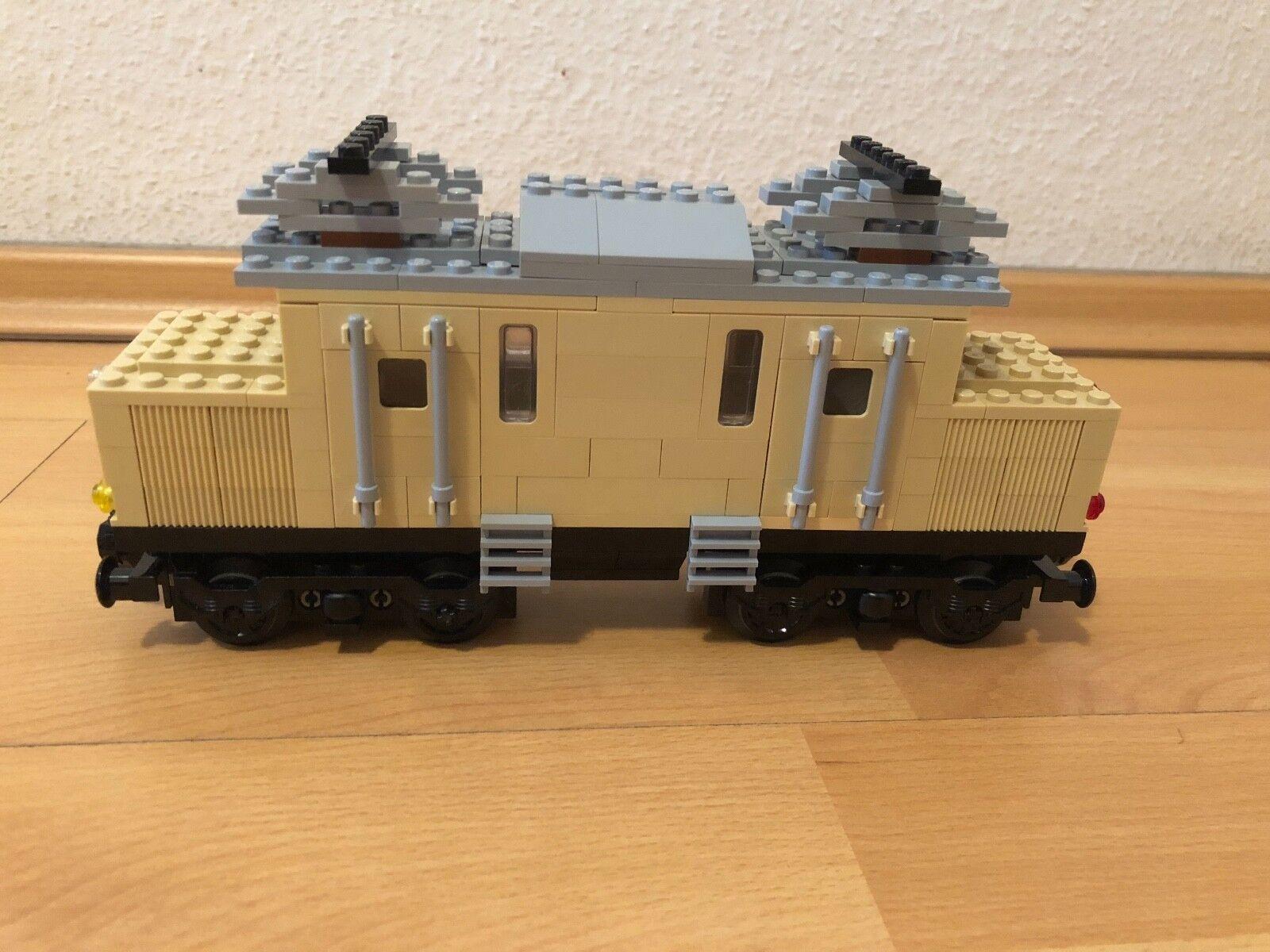 Lego 7777 Idea Book Train Eisenbahn B Version (tan) Krokodil for Powered Up 12V
