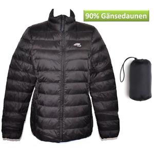 F2 Damen Leichtdaunen Blouson Schwarz L Daunen Jacke Steppjacke warm ~yx - 0311