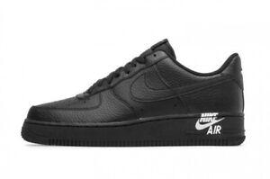 Details about Nike Air Force 1 '07 Low 'Emblem' Trainers Men's Uk Size 10  45 AJ7280 002 Black