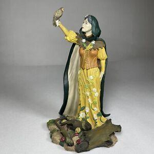 "Woodland Sorceress K014 Land of the Dragons 8"" Ceramic Figure Figurine RARE"