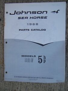 Details about 1968 Johnson Sea Horse 5 HP Models Outboard Motor Parts  Catalog MORE IN STORE L