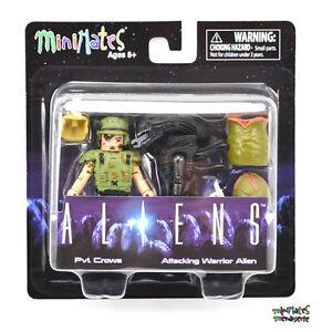 Frost /& Burning Warrior Alien Aliens Minimates Series 2 Pvt