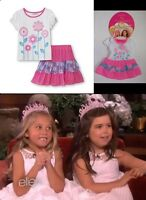 Girls Dress Matching American Doll Clothes Dollie & Me Pink Top And Skirt Outfit