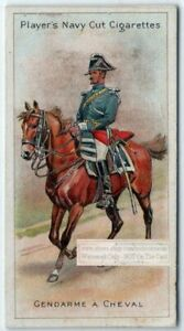 French-Municipal-Guard-Police-On-Horse-100-Y-O-Trade-Ad-Card