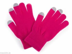 GENUINE-TOUCHSCREEN-GLOVES-PINK-UNIVERSAL-SIZE-iPHONE-TABLET-PSP-SMARTPHONE