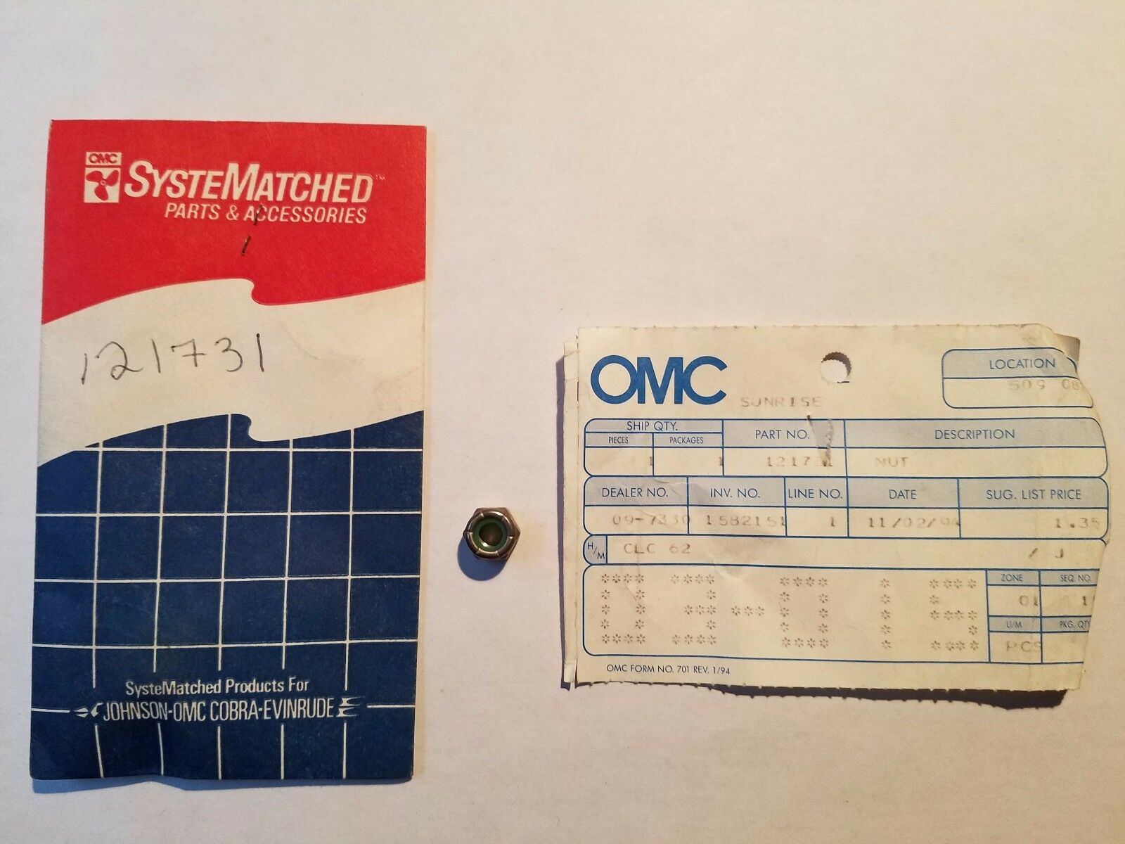 NOS OMC Evinrude Johnson Sender Mounting Part 122787.