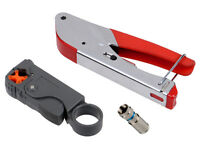 Compression Tool Kit F Bnc Rg58 Connector Fitting Coaxial Crimper Cable Coax on sale