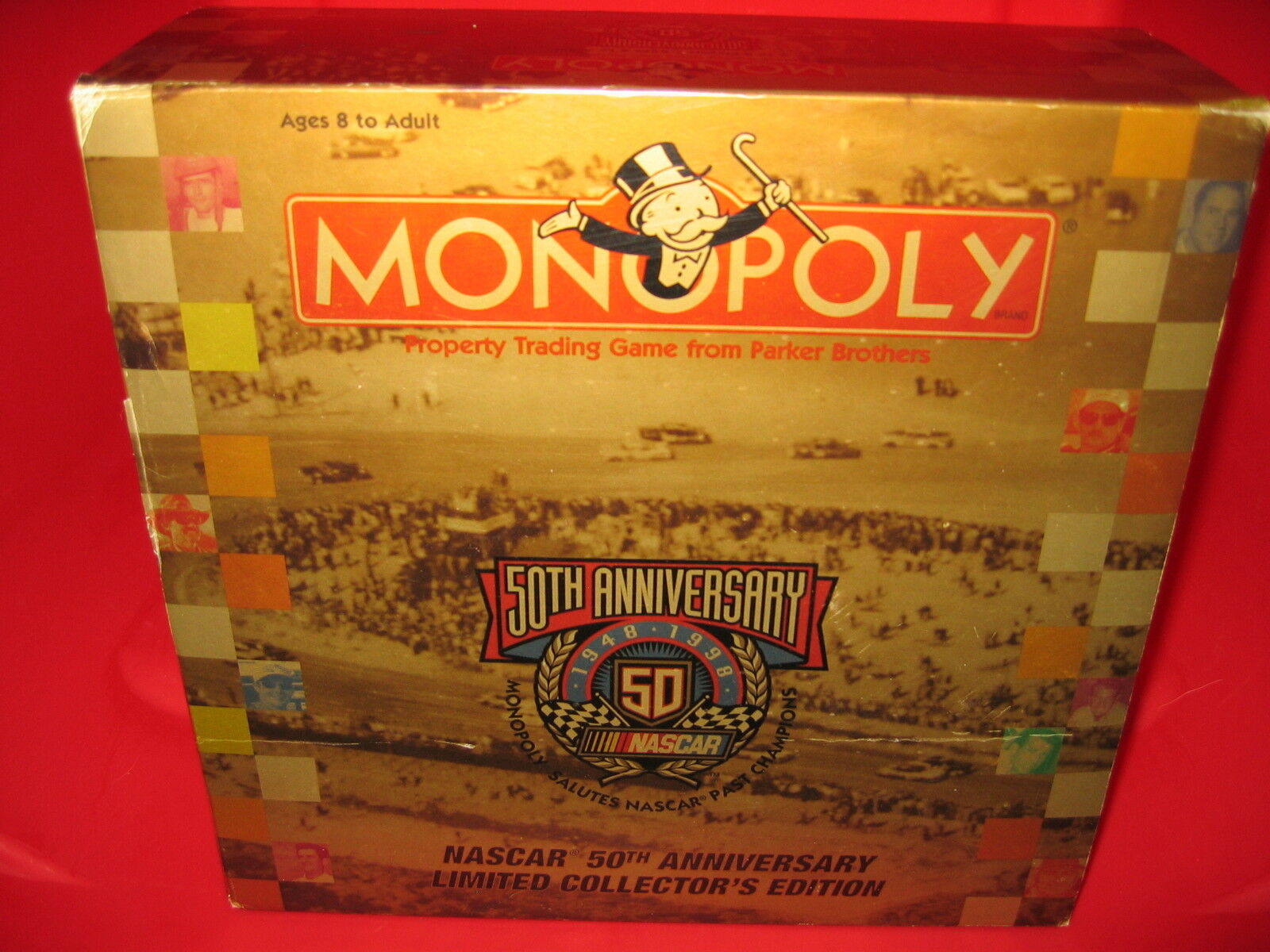 Monopoly Game Collector's  NASCAR 50th ANNIVERSARY  Parker Bros. 1998 (COMPLETE)