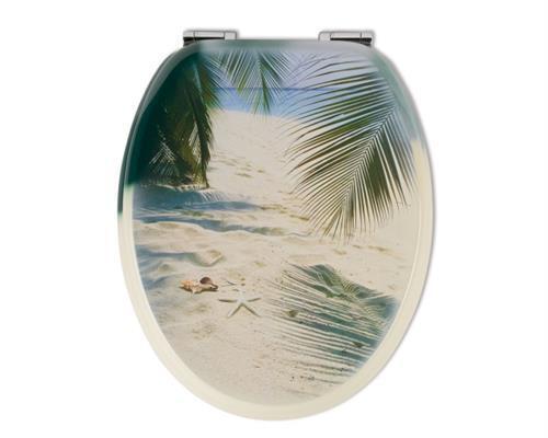 Sitzplatz WC-Sitz Dekor Beach mit Soft-Schließ-Komfort | Hochwertige Materialien