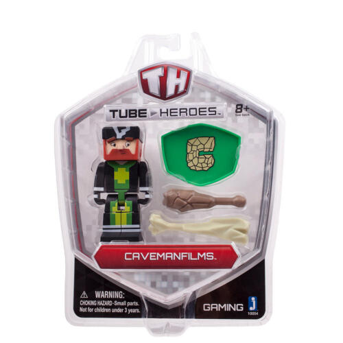 CavemanFilms NEW Tube Heroes 2.75 inch Action Figure with Accessories