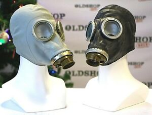 Set of two soviet russian gas masks gp 5 gray black ww2 genuine image is loading set of two soviet russian gas masks gp voltagebd Images