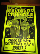 Original BROTHERS CREEGAN Concert Flyer from Bare Naked Ladies Portland OR Vntg