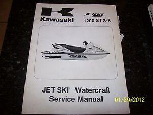 OEM Kawasaki 02 1200 STX-R Jet Ski PWC Watercraft Service Shop Repair Manual