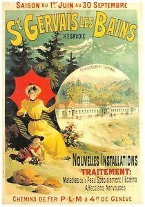 Postcard Ads Advertising P. L. M.Saint Gervais The Bath Edit Clouet T15