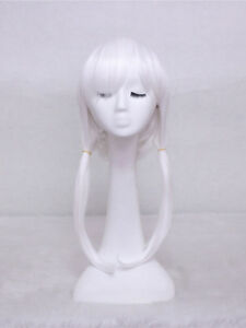 Asriel White Cosplay Party Costume Wig + a wig cap