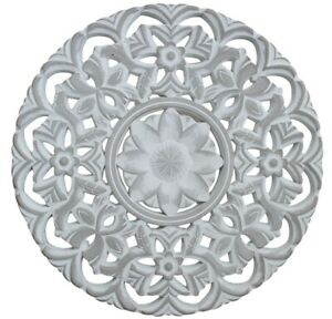 Mandala Wall Art Hand Carved Wooden Wall Sculpture Big Large 50 Cm Ebay