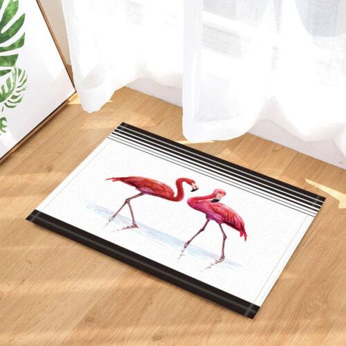 Día de San Valentín Flamingo Cortina De Ducha Tela Decoración cuarto de baño y 12 Ganchos 71*71in