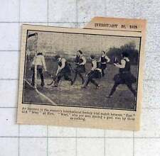 1925 Women's International Hockey Trial Match Between East And West At Kew