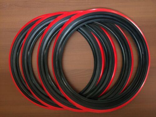 "4X15/"" Tire Red Stripe Port o wall Topper insert trim 15/"" tires wheels #R265"