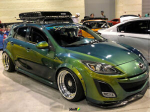 Mazda 3 fender flares wide body kit mazda 3 mps arch extensions 20 image is loading mazda 3 fender flares wide body kit mazda publicscrutiny Images