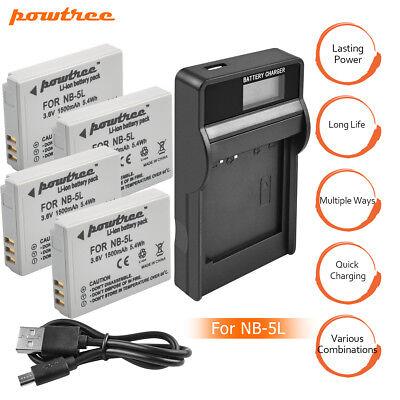 sx230 HS Bateria nb-5l cargador para Canon PowerShot sx200 is sx210 is sx220 HS