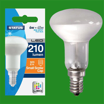 8x 6W =40W R50 Reflector Spotlight SES E14 Edison Screw LED Light Bulb Lamp