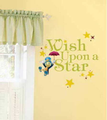 WISH UPON A STAR wall stickers 15 decals JIMINY CRICKET Quote