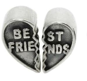 *new* Rhona Sutton 925 Sterling Silver Best Friends European Charm Bead Pair RegelmäßIges TeegeträNk Verbessert Ihre Gesundheit