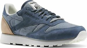 Reebok-Classic-CL-Leather-Fleck-Sizes-4-8-Blue-RRP-70-BNIB-AQ9722