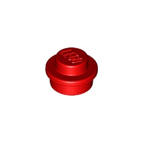 Lego 50x original de color rojo brillante 1x1 Redondo Placa Tachonado Azulejo Ladrillo 614121 6141-Nuevo