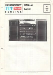 B6515 Service Manual Schaltplan Sonnig Itt Graetz Ca 551