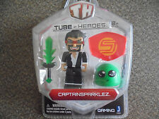 Tube Heroes 3in Captain Sparklez W/accessory 10051 Action Figure