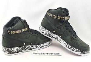 Nike Air Force 1 Hi QS BHM 920787 001 Men's Women's Casual Shoes 920787 001