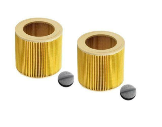 Pack of 2 Cartridge Filter Fit Karcher MV2 MV3 MV4 Wet & Dry Vacuum Cleaners