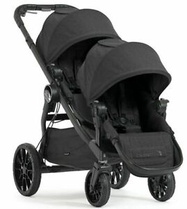Baby-Jogger-City-Select-Lux-Twin-Tandem-Double-Stroller-w-Second-Seat-granite