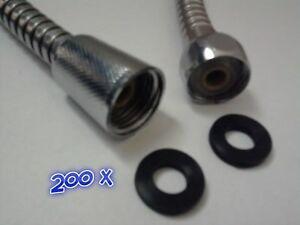 200-x-1-2-034-0-5-Shower-Hose-Head-Plumbing-Taps-Bathroom-Rubber-Washer-Seal