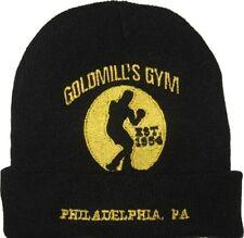 Rocky Balboa Goldmill's Gym Logo Wool Hat Black Beanie Knit Drago Apollo Creed