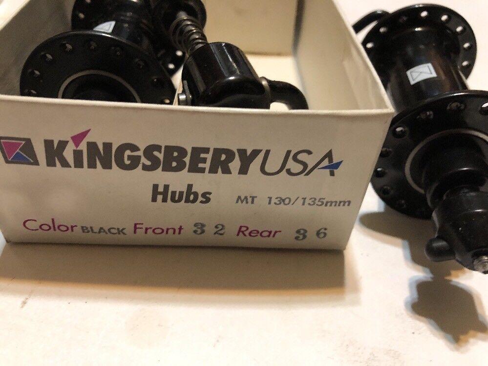 Vintage Pair NOS KINGSBERY Front & Rear Bicycle Hubs 32-36 H 130 135 mm