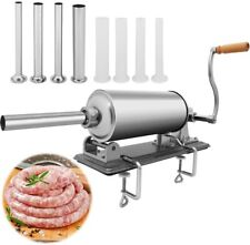 Olenyer Sausage Stuffer Stainless Steel Homemade Sausage Maker Horizontal Meat