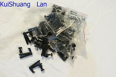 140pcs all black VIOLIN FINE TUNERS STRING ADJUSTER 4/4-3/4