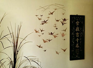 wundersch ne deko kranich mobile aus 38 origami kranichen ebay. Black Bedroom Furniture Sets. Home Design Ideas