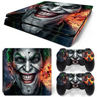 Sony Ps4 Slim Console And Controller Skins / Decal -- Batman's Joker (s-0073)